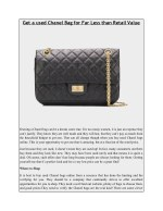 Get a used Chanel Bag for Far Less than Retail Value