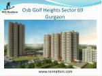 osb Golf Heights affordable sector 69 Gurgaon 9266055508