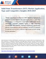 Solid State Transformers (SST) Market Application, Type and Competitive Insights 2018-2025