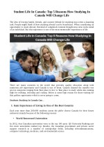 Student Life In Canada: Top 5 Reasons How Studying In Canada Will Change Life
