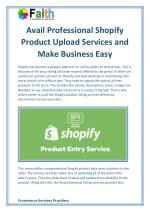 Avail Professional Shopify Product Upload Services and Make Business Easy
