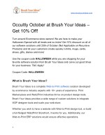Occultly October at Brush Your Ideas – Get 10% Off!