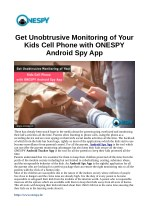 Get Unobtrusive Monitoring of Your Kids Cell Phone with ONESPY Android Spy App