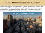 The Top 5 Affordable Places to Rent in Abu Dhabi