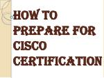 List of the Certifications Offered by Cisco Systems