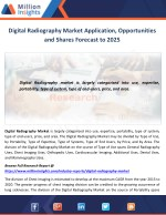 Digital Radiography Market Application, Opportunities and Shares Forecast to 2025