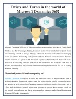 Microsoft Dynamics 365 turned out to be a boon for the businesses