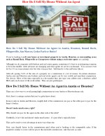 Sell Your Houston Area House Fast