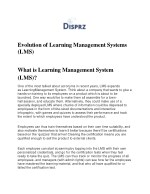 """Evolution of Learning Management Systems """