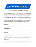 What is ELSS and What to Consider When Investing in ELSS – Indian Money