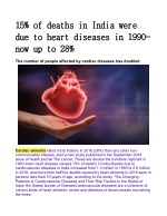 15% of deaths in India were due to heart diseases in 1990; now up to 28%