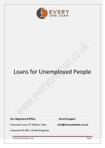 Loans for Unemployed People in UK - by Everyone Loan