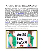 Teal Farms Garcinia Cambogia Reviews