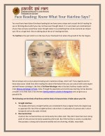 Face Reading: Know What Your Hairline Says ?