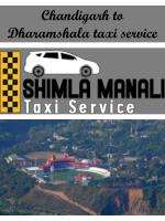 Chandigarh to Dharamshala taxi service