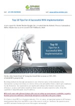 Top 10 Tips For A Successful RPA Implementation