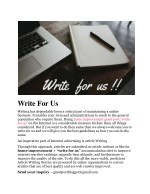 Home Improvement Blogs Write For Us