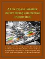 A Few Tips to Consider Before Hiring Commercial Printers in NJ