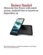 Motorola One Power with notch screen, Android One to launch on September 24