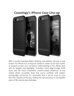 Caseology's iPhone Case Line-up