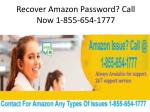 Unable To Login To Amazon? Call Now 1-855-654-1777