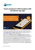 Track someone's GPS location with cell phone spy app