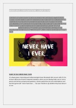 NEVER HAVE I EVER QUESTIONS –LOADS OF FUN
