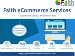 Faith eCommerce Services in India