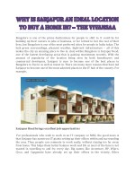 Why Is Sarjapur An Ideal Location To Buy A Home In? - The Vivansaa