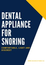 Dental Appliance For Snoring