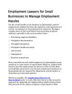 Employment Lawyers for Small Businesses to Manage Employment Hassles