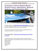 Automotive Antenna Module Market Growth Factors, Applications, Regional Analysis, and Forecasts by 2023