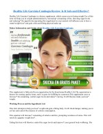 What is Healthy Life Garcinia Cambogia thing about?
