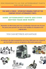 Few Reasons to Go for Aftermarket Parts for Your Vehicle