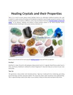 Healing Crystals and their Properties - KARMA HEALPER