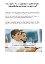 How can a Kiosk Lockdown Software be helpful in Educational Institutions