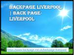 Backpage Liverpool | back page- Liverpool