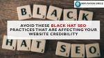 Avoid these Black Hat SEO Practices that are affecting your Website Credibility