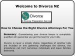 Divorce Papers at divorcenz