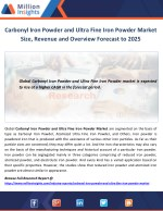 Carbonyl Iron Powder and Ultra Fine Iron Powder Market Size, Revenue and Overview Forecast to 2025