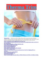 Therma Trim : Weight Loss NO.1 Pills Reviews Slim Body ...