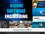 Secure Software Engineering : Tonex Training