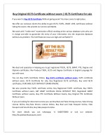 Buy Original IELTS Certificate without exam | IELTS Certificate for sale