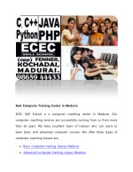 Best Computer Training Center in Madurai-ECEC SKILL SCHOOL