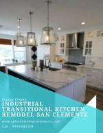Orange County Industrial Transitional Kitchen Remodel