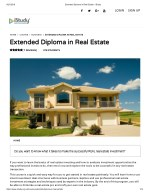Extended Diploma in Real Estate - istudy