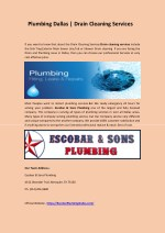Plumbing Dallas & Drain Cleaning Services