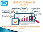 Fine the Best SEO Company in meerut
