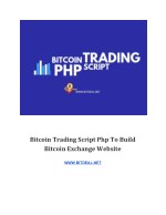 Bitcoin Trading Script php To Build Bitcoin Exchange Website