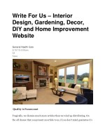 PPT - Write For Us – Interior Design, Gardening, Decor, DIY